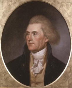 Portrait of Thomas Jefferson by his friend CW Peale (1791)